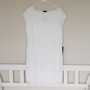 White Macrame Dress